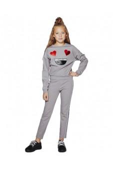 Комплект джемпер и брюки с вышивкой