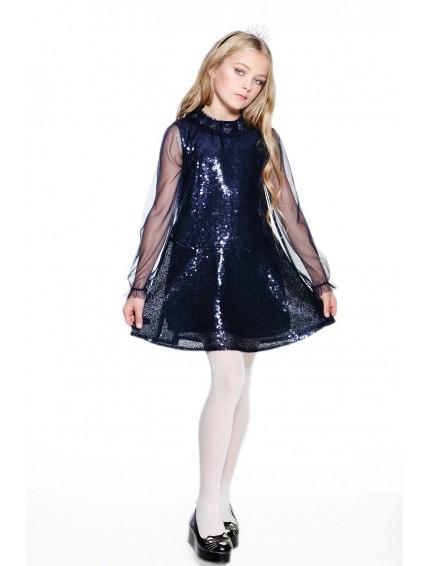 Платье сетка с пайетками