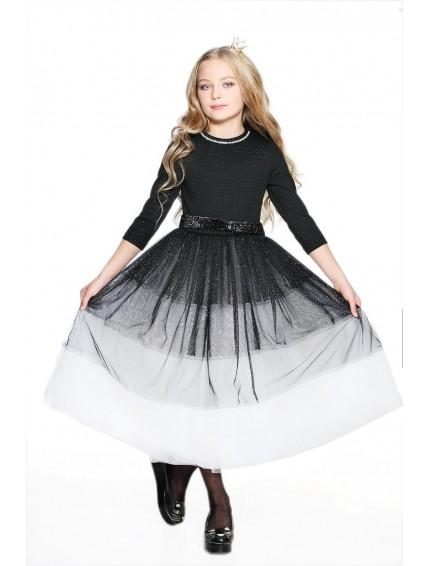Пышное длинное платье