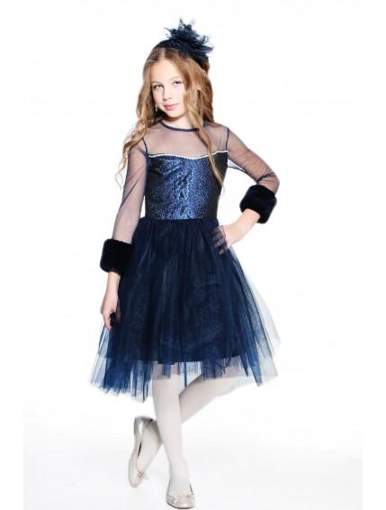 Пышное платье сетка со стразами