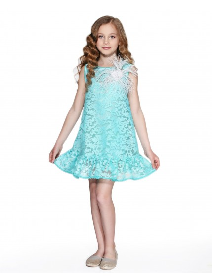 Платье из вышитой органзы
