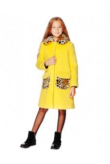 Пальто с мехом (желтое)