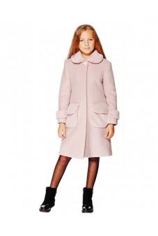 Пальто с мехом (пудровое)