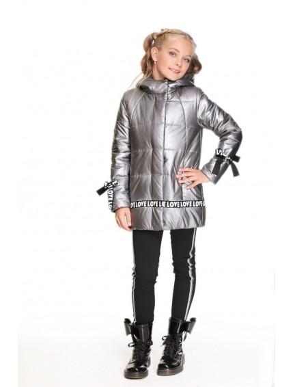 Пальто с отделкой лентой