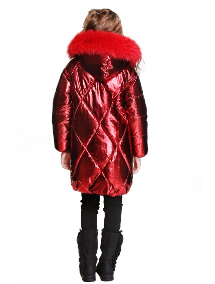 Пальто со стёгаными ромбами