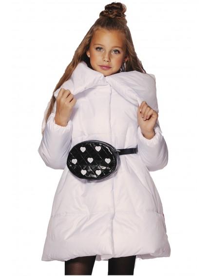 Пальто стеганое со звездой (белое)