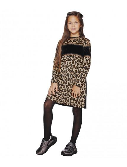 Платье с велюровой вставкой