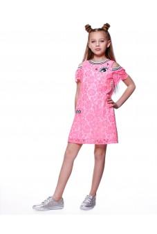Платье из гипюра (розовое)