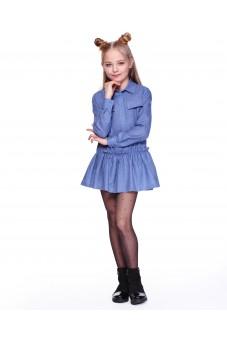 Платье-рубашка (голубая)