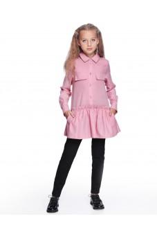 Платье-рубашка (розовое)