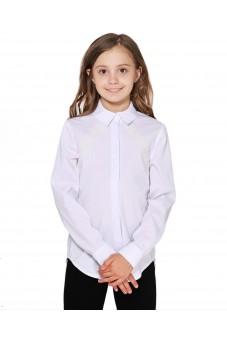 Блуза с отделкой из макраме