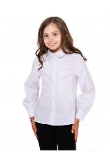 Блуза с перьями