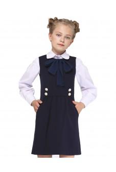 Платье с бантом (синее)
